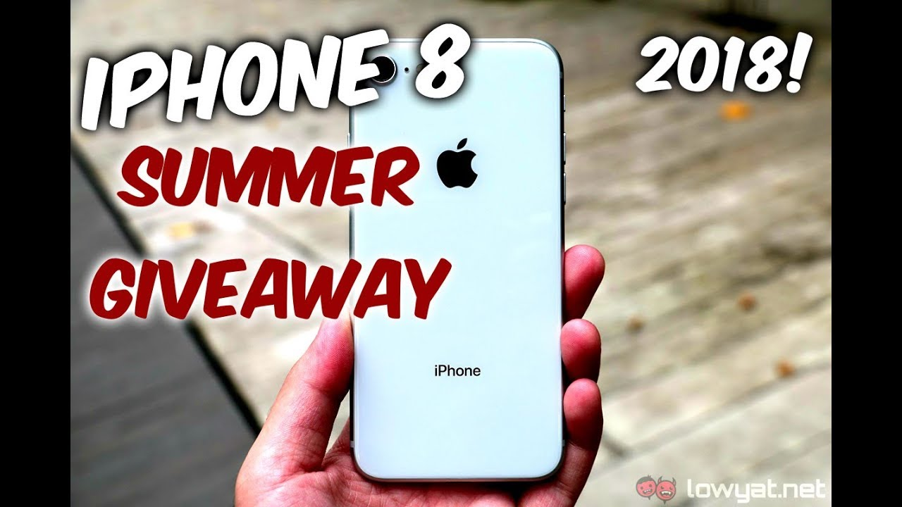 iPhone 8 summer giveaway! Win free iPhone 8! ( June 2018 )