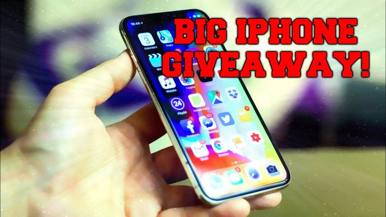 Big iPhone giveaway! Win iPhone X or other iPhone for free! ( June 2018 )