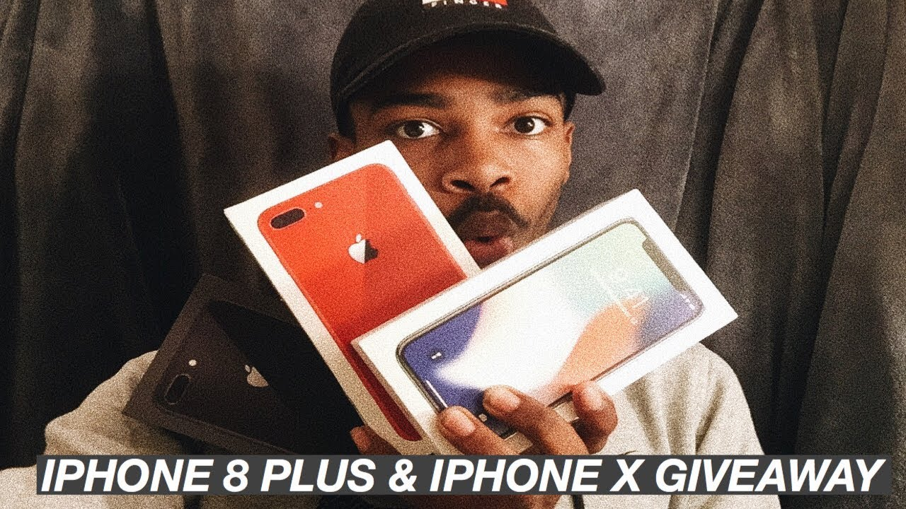 IPHONE 8 PLUS AND IPHONE X GIVEAWAY !! THREE IPHONE GIVEAWAYS! ENTER TO WIN.