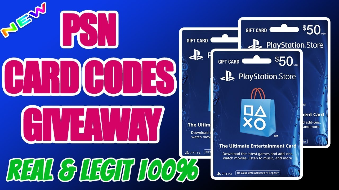 PSN Code Giveaway   PSN Code For Free   How To Get Free PSN Codes 2018[Real & Legit]