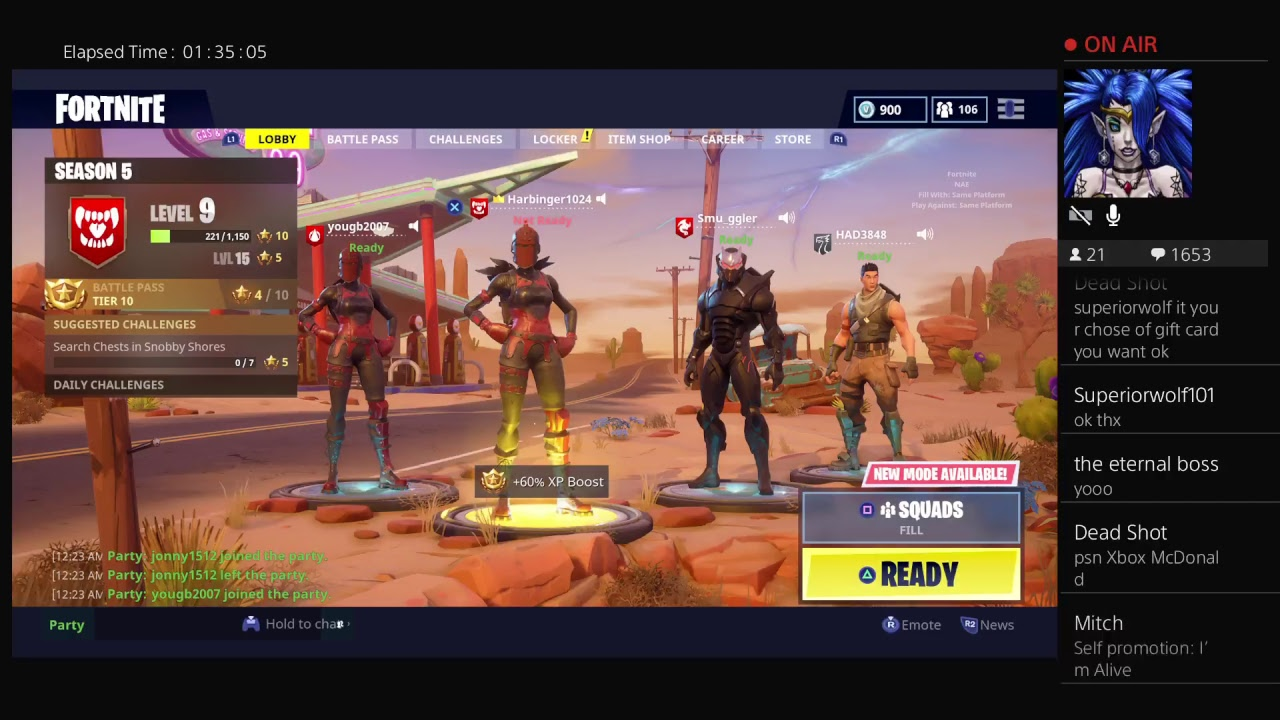 Ps4 Live Fortnite Free Season 5 Day 2 10 Gift Card Giveaway